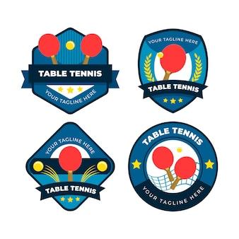 Tafeltennis logo collectie