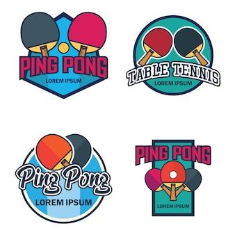 Tafeltennis- / pingpong-logo