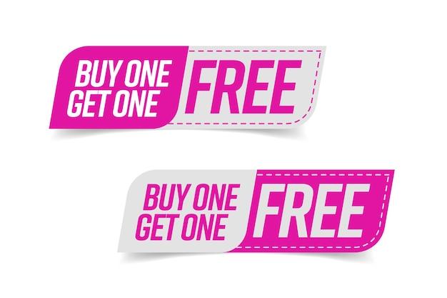 Tag bogo-sjabloon. koop er een en ontvang een gratis banner met garantie op winst