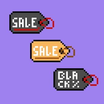 Tag verkoop met pixel art-stijl