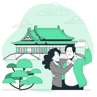 Taipei concept illustratie