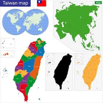 Taiwan kaart