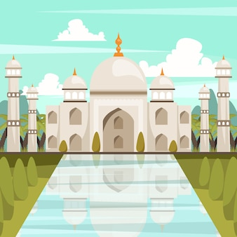 Taj mahal illustratie