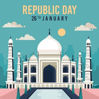 Taj mahal vooraanzicht 26 januari nationale dag