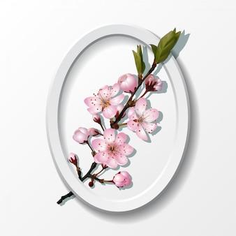 Tak van roze sakura kersenbloemen
