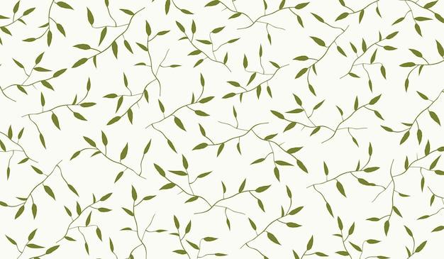 Takken en bladeren patter vector achtergrond