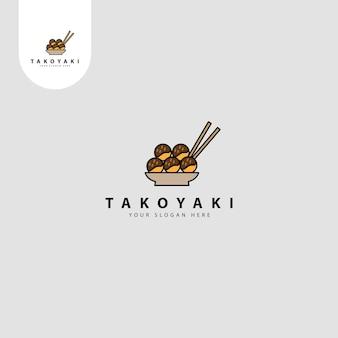 Takoyaki eenvoudig logo