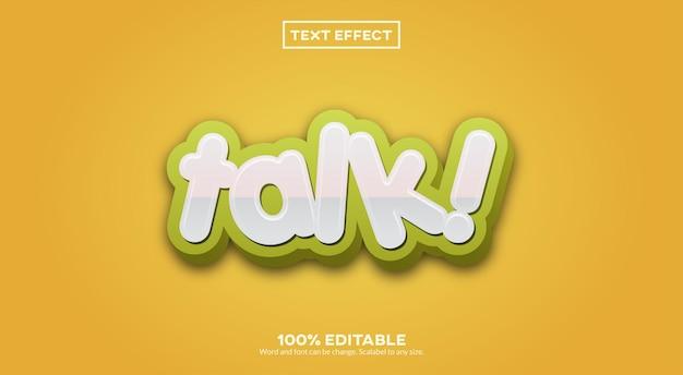 Talk 3d-teksteffect