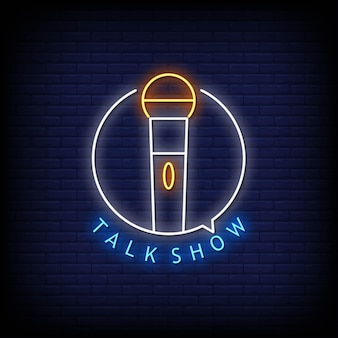 Talkshow logo neon signs style text