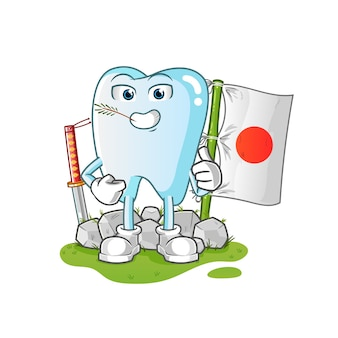 Tand japanse illustratie
