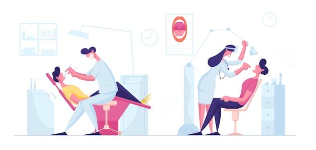 Tandarts check-up of behandelingsprocedure
