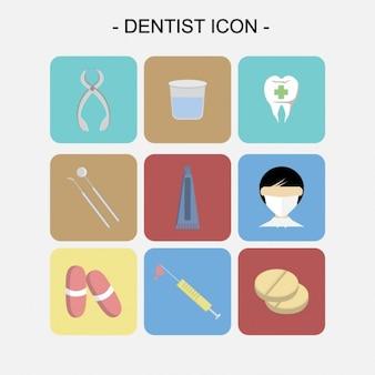 Tandarts iconen collectie