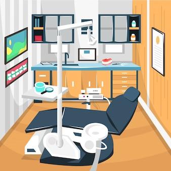 Tandarts kamer tandheelkundige zorg concept ziekenhuis
