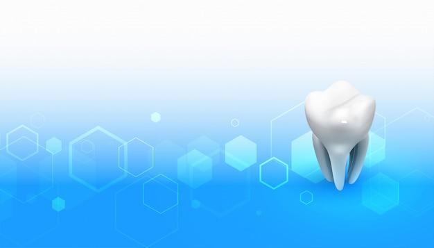 Tandarts medische achtergrond met 3d tandontwerp