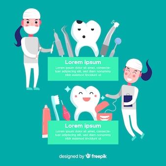 Tandartsen die een tandachtergrond behandelen