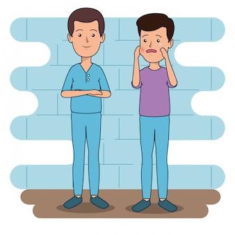 Tandartsmens met patiënt aan tandenzorg