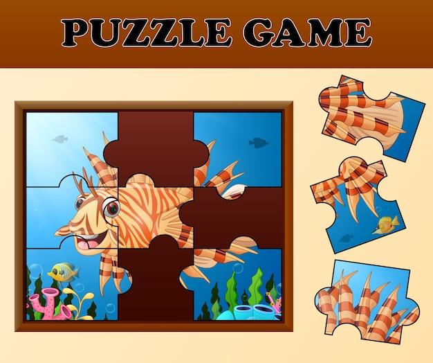 Tandbaars in onderzeese met puzzel concept