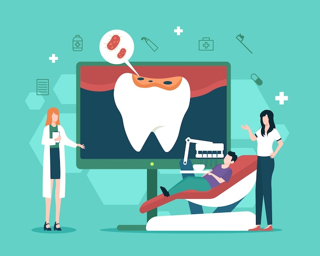 Tandbederf behandeling illustratie
