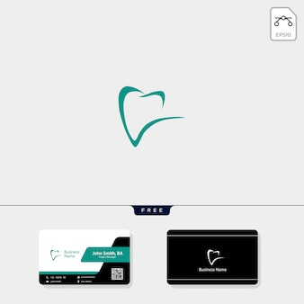 Tandembleem en krijg gratis visitekaartje ontwerp