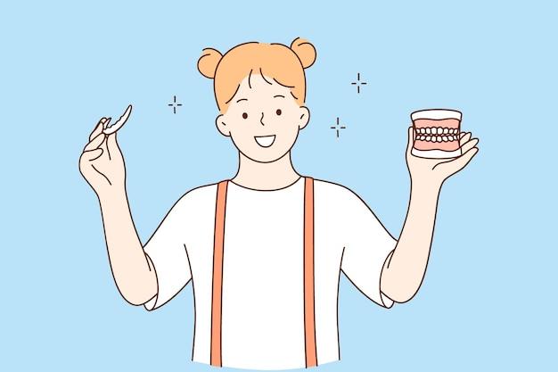 Tanden gezondheid en tandheelkundige diensten concept