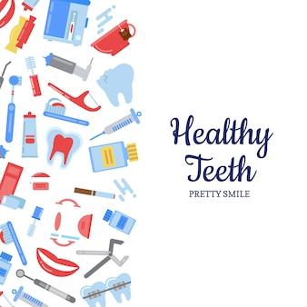 Tanden hygiëne-elementen