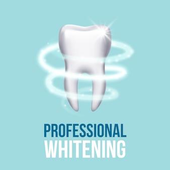 Tandenbescherming, tandzorg tandheelkundig medisch concept. beschermende vortex rond tandillustratie