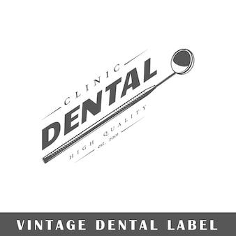 Tandetiket dat op witte achtergrond wordt geïsoleerd