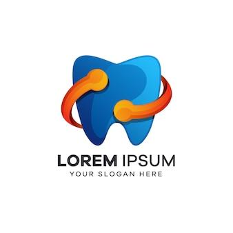 Tandheelkundig logo met technologiestijl