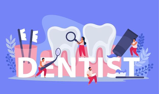 Tandheelkundige gezondheid illustratie