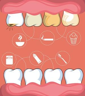 Tandheelkundige gezondheidszorg apparatuur pictogram