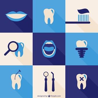 Tandheelkundige iconen set