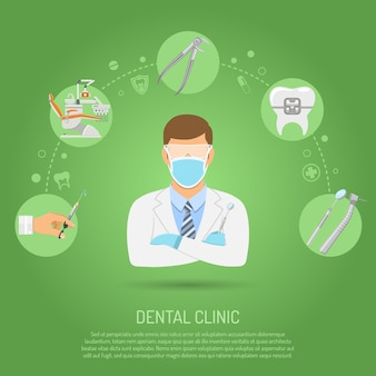 Tandheelkundige kliniek concept