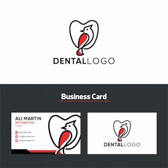Tandheelkundige kliniek creatief logo-ontwerp