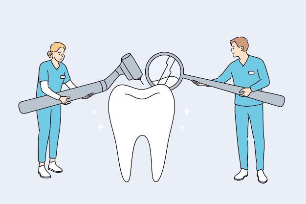 Tandheelkundige kliniek en gezondheidszorgconcept