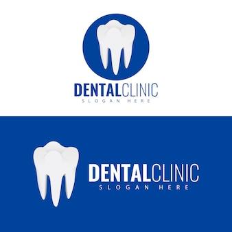 Tandheelkundige kliniek logo ontwerp.