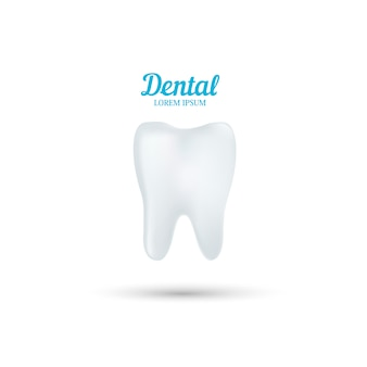 Tandheelkundige kliniek logo sjabloon. abstracte menselijke tand.