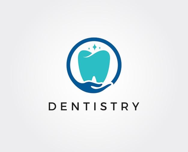 Tandheelkundige kliniek logo sjabloon