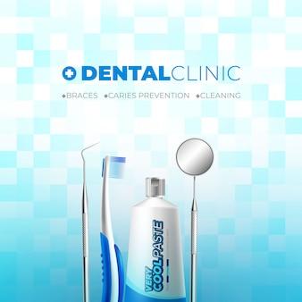 Tandheelkundige kliniek reclamebanner