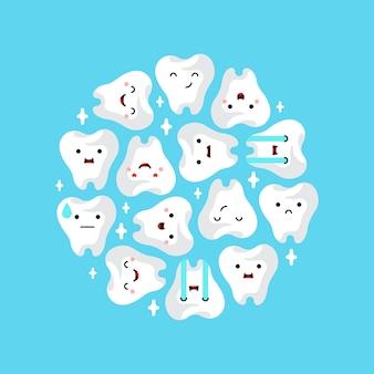 Tandheelkundige kliniek tanden achtergrond.