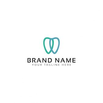 Tandheelkundige kunst logo sjabloon