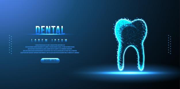 Tandheelkundige laag poly draadframe
