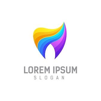 Tandheelkundige logo ontwerpsjabloon illustratie