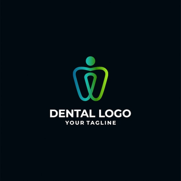 Tandheelkundige logo sjabloon