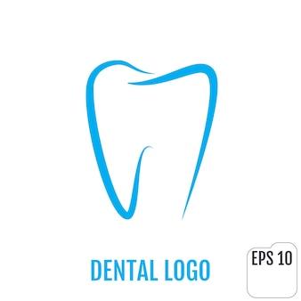 Tandheelkundige logo tandheelkundige kliniek pictogram ontwerp tand