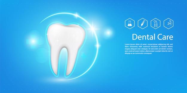 Tandheelkundige model achtergrond