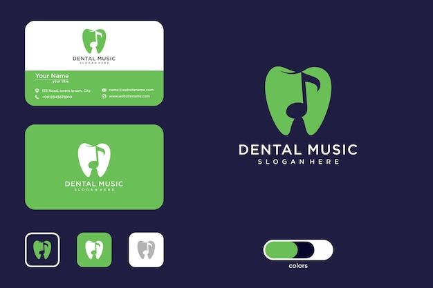 Tandheelkundige muziek logo ontwerp en visitekaartje