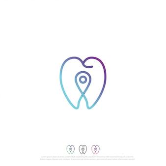 Tandheelkundige pin logo sjabloon