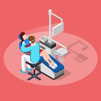 Tandheelkundige stopping isometrische samenstelling