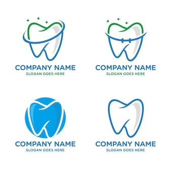 Tandheelkundige, tandheelkunde logo sjabloon