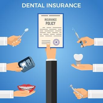 Tandheelkundige verzekering services concept